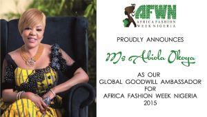 Miss Abiola Okoya - AFWN 2015 Goodwill Ambassador