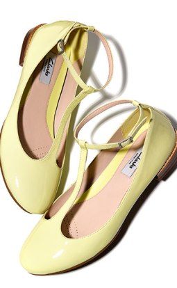 Festival Glee, Pale Yellow Flat Pump - www.clarks.co.uk