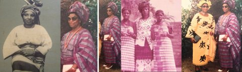 Pictures of Oreka's sister, aunts, mother and grandmother.